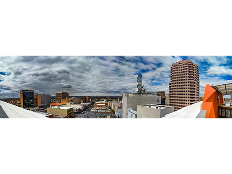 Spectacular 360º vista from the rooftop deck
