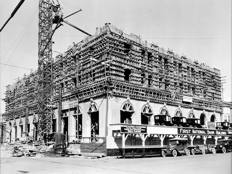 Under construction c. 1922