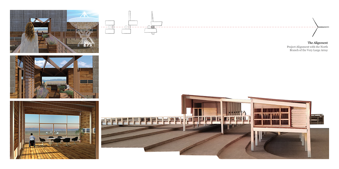 The Alignment, Very Large Array Residence and Research Facility Final Studio Project ARCH 501 Graduate Architectural Design II, Fall 2016, SA+P, UNM