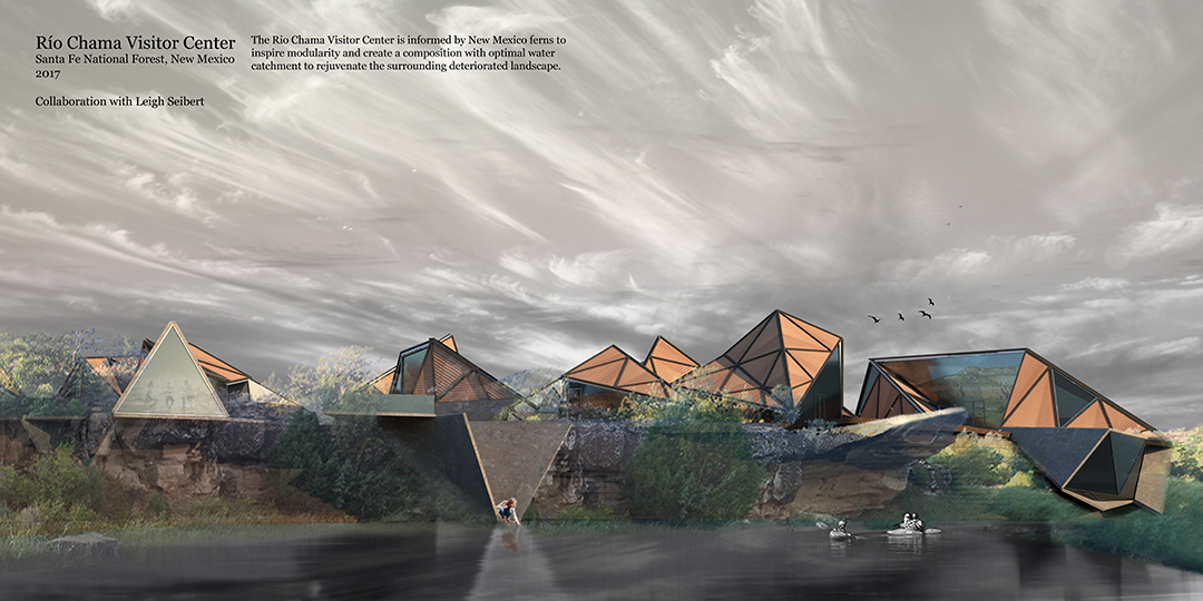 Río Chama Visitor Center Designed in Collaboration with Leigh Seibert, Final Studio Project ARCH 601 Masters Architectural Design I, Fall 2017, SA•P, UNM