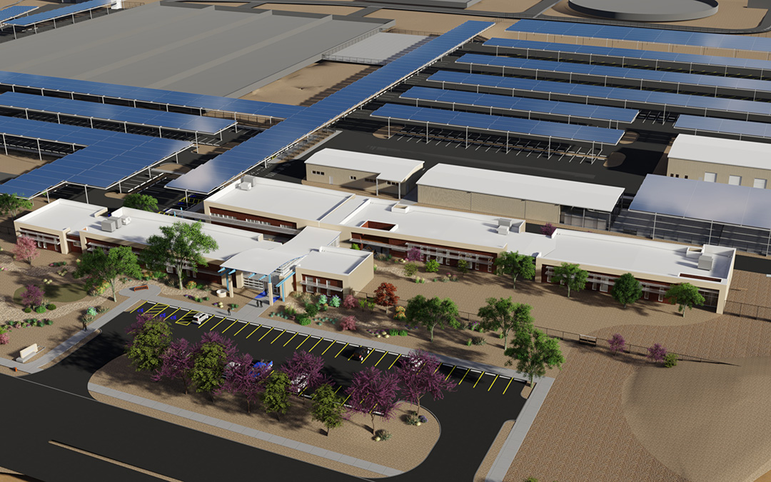 Albuquerque Bernalillo County Water Utility Authority Operations Building - Rendering