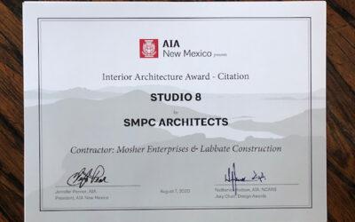 AIA New Mexico presents Interior Architecture Award Citation for SMPC Studio 8